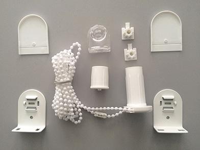 Montageset für Kettenzugrollos<br>Metallträger<br>Bedienlänge: 120 cm<br>Lieferzeit: ca. 2 Werktage