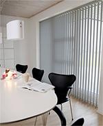 Lamellenvorhang LINE 89 mm Lamelle, Breite 100 x Höhe 250, Farbe grau, lichtdurchlässig